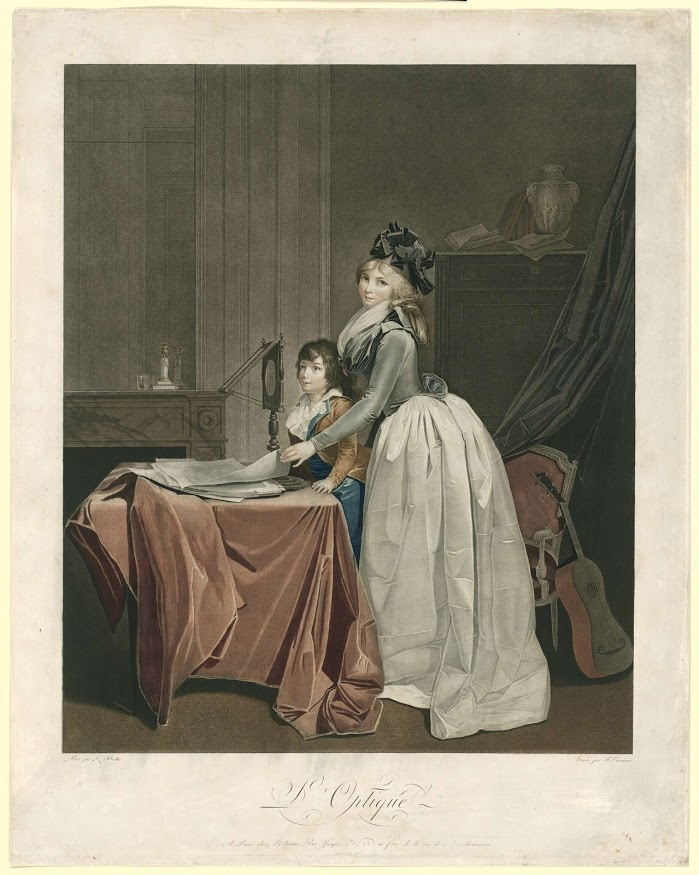 L'optique', J.F. Cazenave, Louis-Léopold Boilly, ca. 1794