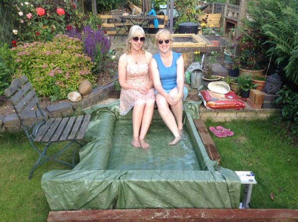 homemade paddling pool