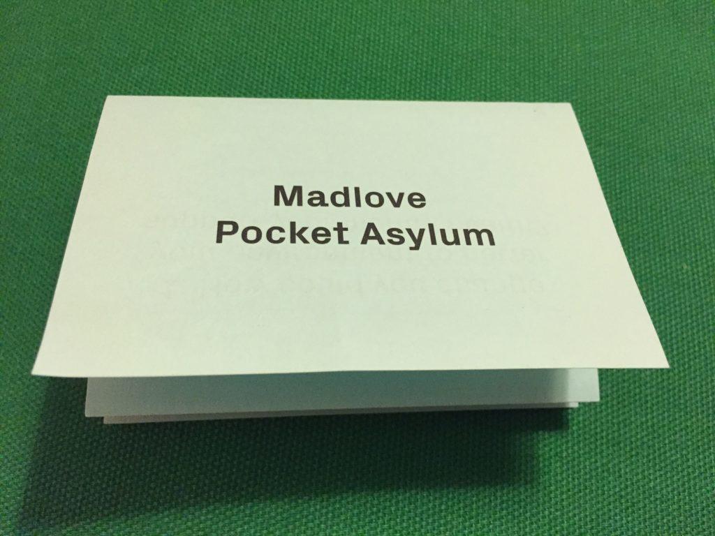 pocket asylum folded Q&A sheet