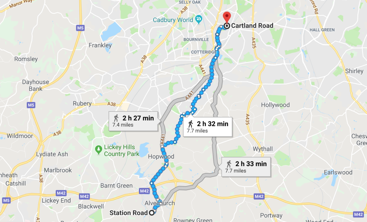 Country to city solo walk – North Worcestershire to West Midlands