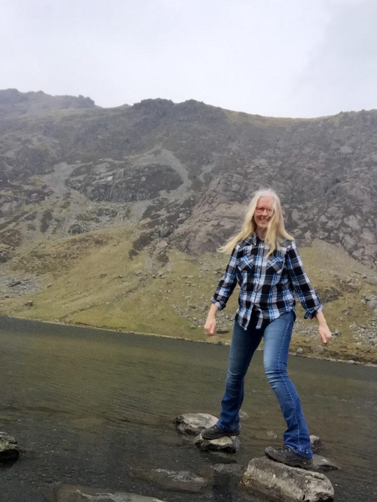 Llyn Cau lake at last.