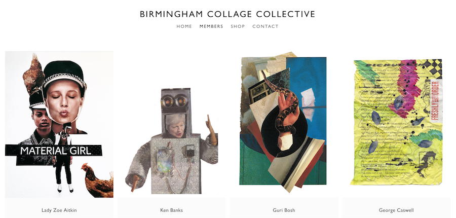 Birmingham Collage Collective: new website, new show and new zine