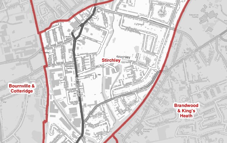 Stirchley ward map crop